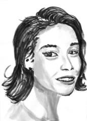 cg painting girl head