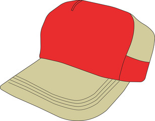 Baseball Cap Vector Clipart Design