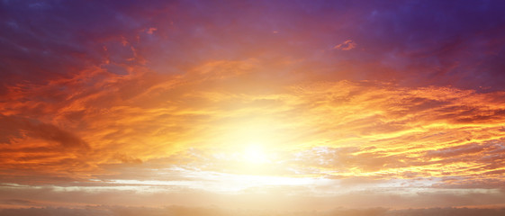 Foto auf AluDibond Schöner Morgen Bright sky