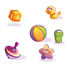 Illustration of cartoon toys