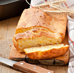 Homemade cheese bread