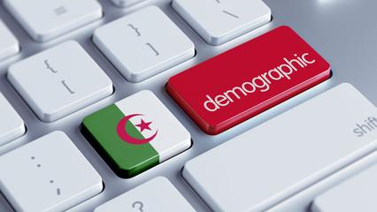 Algeria Demographic Concept.