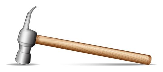 A wooden hammer