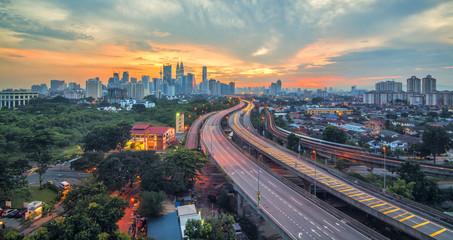 Photo sur Aluminium Kuala Lumpur Sunset of Kuala Lumpur City of Malaysia