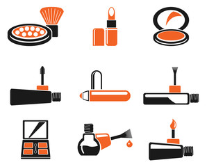 make-up products icons