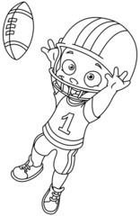 Outlined football kid