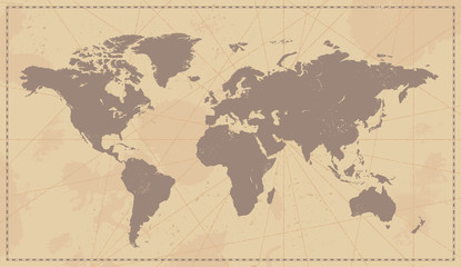 Foto op Plexiglas Wereldkaart Old Vintage World Map