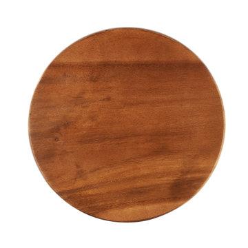 Round wooden tray salver