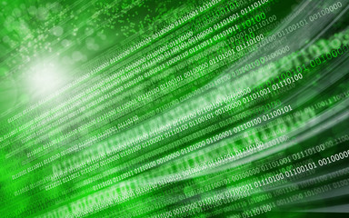 Green background binary code zero & one