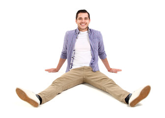 Man lying on floor