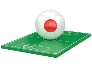Ballon Japon sur terrain de football
