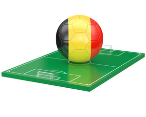Ballon Belgique sur terrain de football