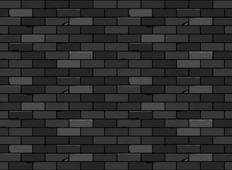 Wall brick seamless pattern Black