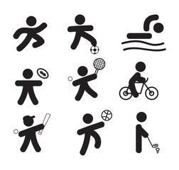 silhouette sport icon