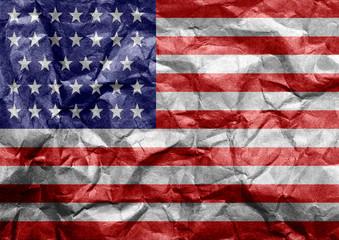 Bandeira do EUA em Papel