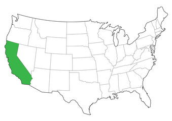 vector usa borders of california