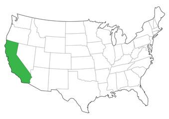 vector usa borders of california