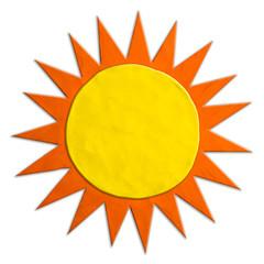 Color children's sun plasticine on a white background