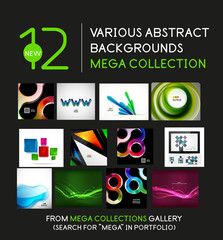 Wave and geometric backgrounds mega collection