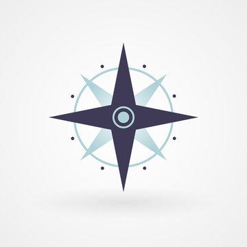 Blue minimal compass