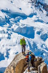 Base camp on Cosmique route Chamonix, France