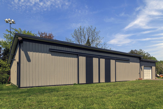 Large Metal Barn in Country