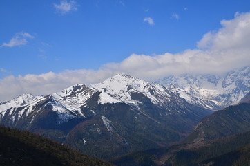 Snow Mountain Range in Yunnan, China