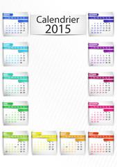 calendrier 2015 (vertical) ruban 3d