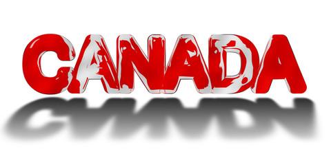 Canada word concept