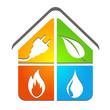 logo plombier chauffagiste électricien énergies renouvelables