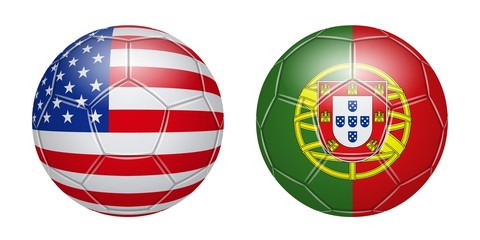Football. United States Portugal