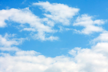 blue sky with clouds, close up