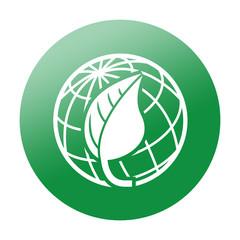 Etiqueta redonda planeta verde
