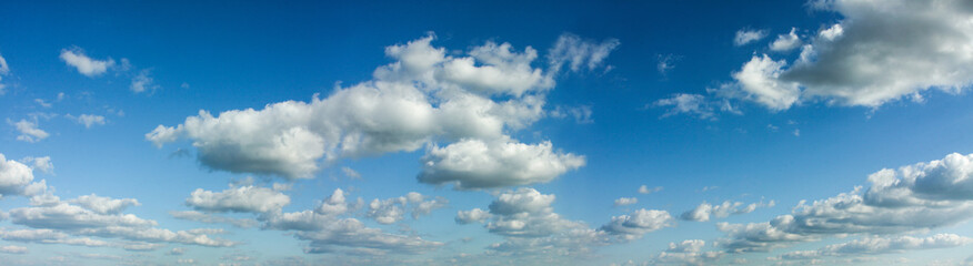 Panoramic composition photo of beautiful cloudy sky