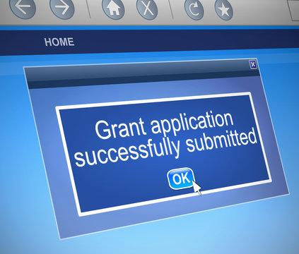 Grants application.