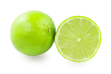 One whole lime and one half lime