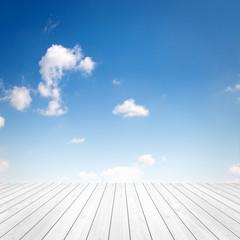 Fototapete - Himmel mit Holz
