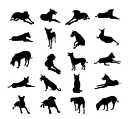 Dogs Silhouette Set-Vector