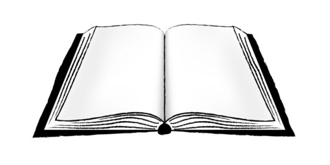 Open Book or Notebook BW