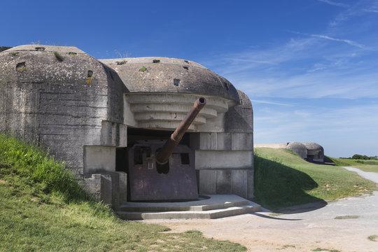 Longues sur mer, canons, batterie, seconde guerre mondiale