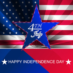 Happy independence day vector background