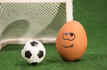 funny egg and football.