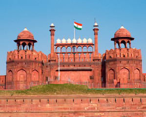 Fotobehang Delhi Red Fort in Delhi, India