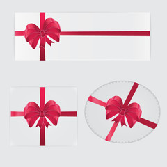 Red bow and gifts