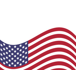 Background with american flag, vector illustration