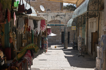 ISRAEL, JERUSALEM - MAY 2014: Bazaar in old city