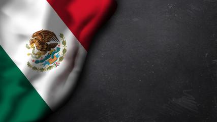 mexikanische Flagge auf Schiefertafel