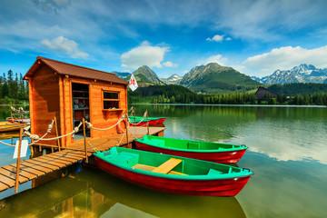 Wonderful mountain lake in National Park High Tatra