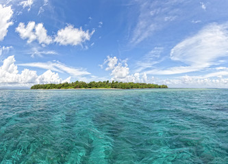 Siladen turquoise tropical paradise island