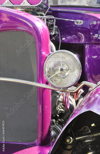 Wall mural high performance colorful hotrod vehicle closeup